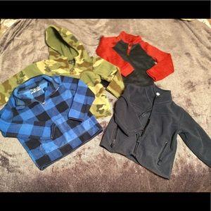 Set of 4 Namebrand little boys jackets. 3t-4t. EUC
